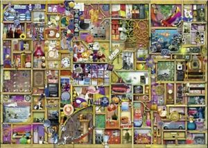 Ravensburger-1000-piece-jigsaw-puzzle-034-The-Curious-Cupboard-034-Used-once-complete