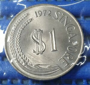 1972-Singapore-1-Stylised-Lion-Coin