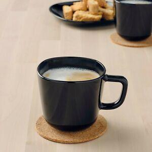 Ikea backig Taza Taza Té Café Negro Brillante Caliente Fría cristalería Vajilla Nuevo 37cl
