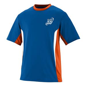 Columbia 300 Men/'s Wicked Performance Crew Bowling Shirt Dri-Fit Royal Orange