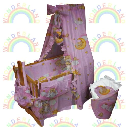 CRIB BEDDING set 13 11 5 3 pcs DUVET QUILT CANOPY pillow  baby BED FITTED SHEET