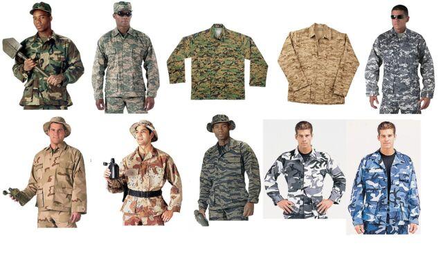 Military Type Tactical BDU Battle Dress Uniform Shirt