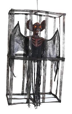 Hanging Caged Vampire Bat