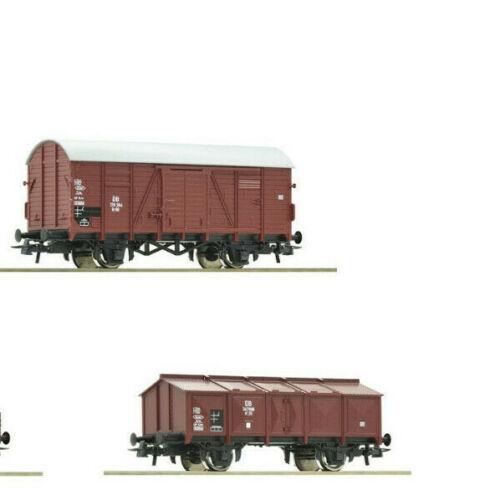 1 ged DB 1 Klappdeckelwagen Spur H0 aus Roco 51318 Güterwagen