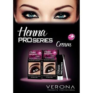 Verona Henna Cream Eyebrow Eyelashes Black Brown Tint Kit Set