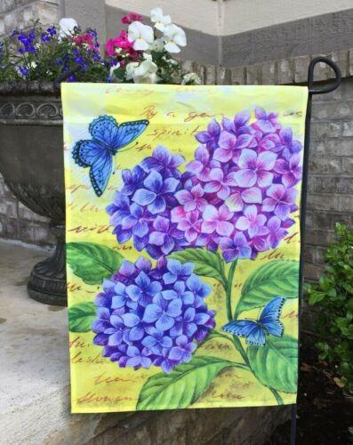Evergreen Decorative Double-sided Garden Flag Blue Hydrangeas      O4