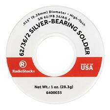 Radioshack Snpbag 62362 Silver Bearing Rosin Core Solder 0015 Diameter