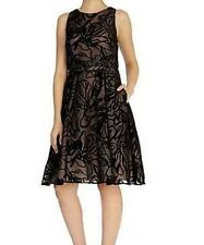 BNWT��COAST��Size 16 Clare Devore Dress Black / Mono (44 EU, 12US) XL RRP £150
