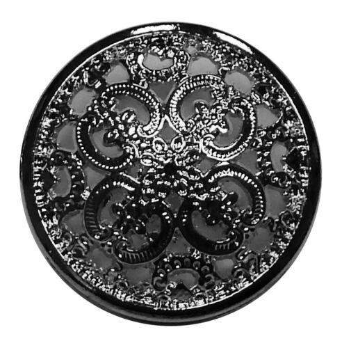 Metall Knopf altsilber 25mm 1.90 EUR//Stück
