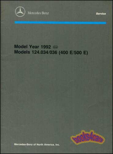 MERCEDES 400E 500E MANUAL BOOK SERVICE INTRODUCTION MB REPAIR SHOP V8 1992 1993