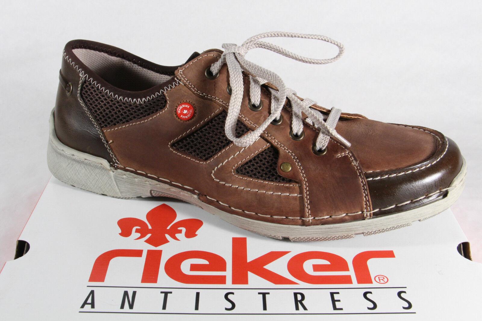 Rieker Men's Lace Loafer Sneaker Brown Insole New