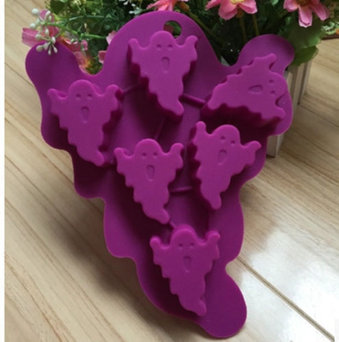 Cake Mold Halloween Ghost Flexible Silicone Mould For Candy Chocolate Soap