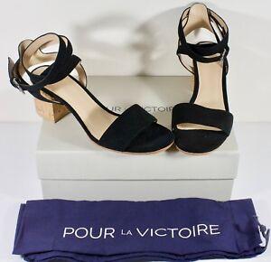 Amana Heel La Size Womens 8 Sandal 886128821006 Victoire Block Pour Suede Black Z7ztzcW