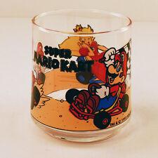 RARE 1993 German Nintendo SUPER MARIO KART Vintage Glass * Princess Peach * MINT