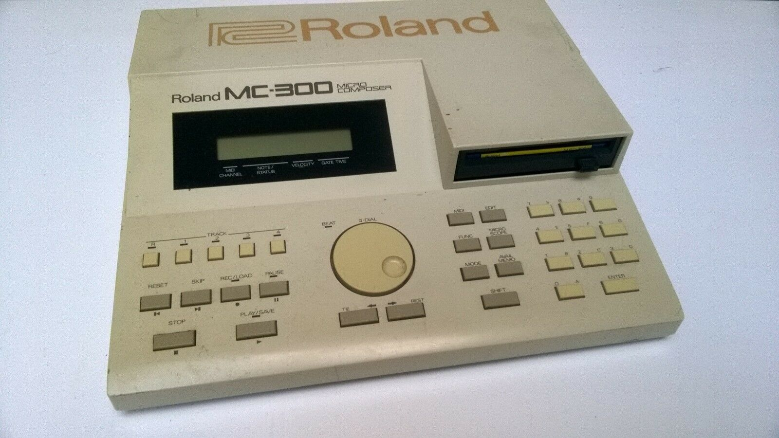 VINTAGE ROLAND MC-300 MICRO COMPOSER SEQUENCER MC300 WITH SYSTEM DISK