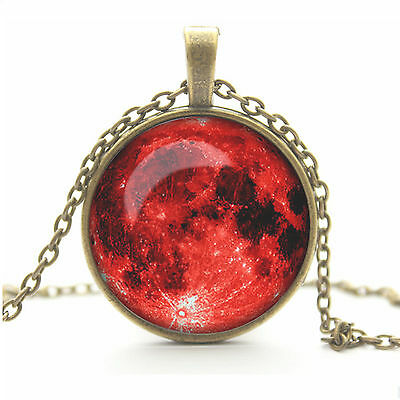 Space Star Planet Universe Pendant Glass Dome Cabochon Charm Necklace