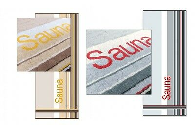Dyckhoff Saunatuch Saunalaken Liegetuch Sauna Wellness grau XXL 80x200 cm *NEU*