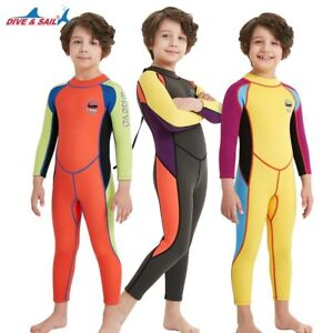 5ad81f424 2.5mm Neoprene Wetsuit Kids Boys/Girls Diving Wet Suit Child ...