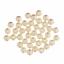 Perlas de Vidrio de 8mm con agujero de subprocesos X 40-Crema o Blanco-Joyería Artesanal