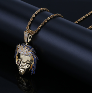 Exquisite Rapper Pendant with rope chain