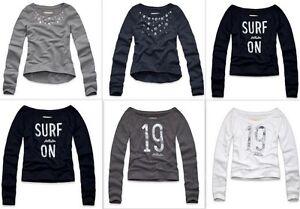 Hollister-By-Abercrombie-Womens-Sweatshirt-Supersoft-fleece-Jumper-Crew-Neck