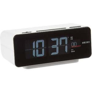 [NEW]SEIKO C3 DL213W Digital Flip alarm clock Vintage Retro Japan White Working
