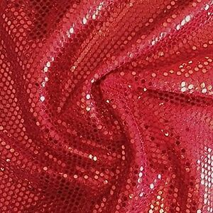Small-Dot-Confetti-Sequin-Fabric-45-034-Wide-Sold-By-The-Yard-Home-Decor-Red