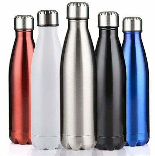 Stainless Steel Thermos Flask Drink Hot Cold Insulated Kid Water Bottle BPA FREE