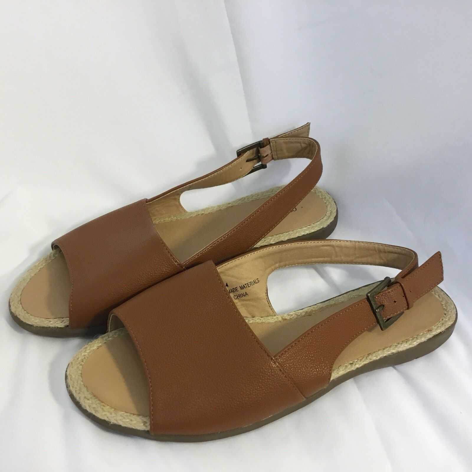 Comfortview 11 M Brown Slingback Cognac Slingback Brown Sandals 2822ce