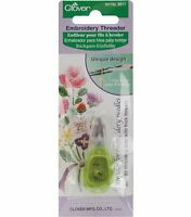 Clover Needle Threader For Embroidery Needles-apple Green , New, Free Shipping