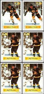 6x-IMPERIAL-1995-JEFF-BROWN-126-CANUCKS-NHL-ADAM-OATES-8-BRUINS-STICKER-LOT