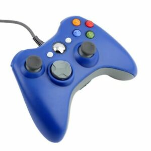Blue-Xbox-360-Controller-USB-Wired-Game-Pad-For-Microsoft-Xbox-360-UK-FAST-POST