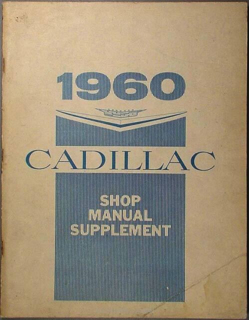 1960 CADILLAC SHOP MANUAL SUPPLEMENT with Wiring Diagram ...