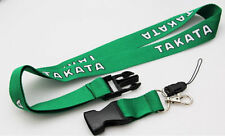 JDM Green Takata Racing Lanyard Neck keychain Key Phone Quick Release Drift Car