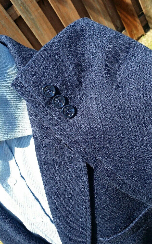 48L 2XL Indaco Blu Indaco 2XL Tweed Cardigan Lavorato a Maglia Blazer Giacca Sport Giacca 933a5f