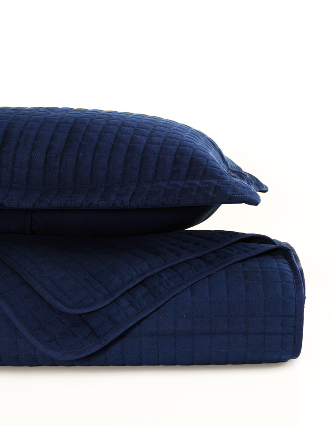 RAINTREE 3 PC SOFT MICROFIBER COVERLET SET NAVY Blau