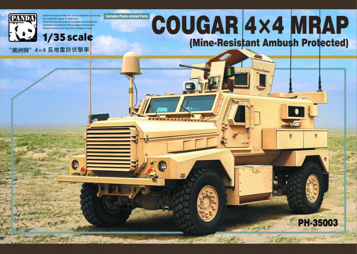 Panda Hobby Model  35 Cougar 4X4 MRAP (Mine-Resistant Ambush Predected)