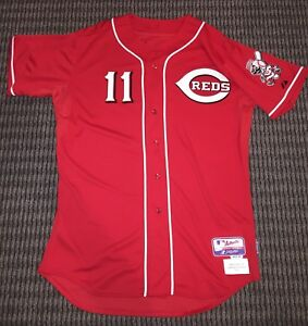 pretty nice 934dd f650c Details about Barry Larkin Cincinnati Reds Coach Worn Jersey MLB  Authenticated