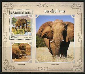 Guinee-2017-elephants-SOUVENIR-SHEET-Comme-neuf-NH