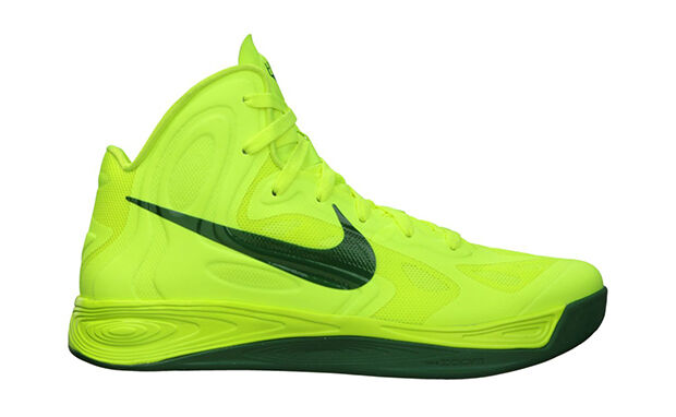NIKE HYPERFUSE 2018 OLYMPICS Brazil VOLT-GREEN BASKETBALL SHOES 525022 700 Sz 17