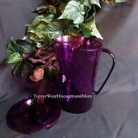 Tupperware Serving Ice Prism Prisms Purple Acrylic 2 Qt Quart Pitcher