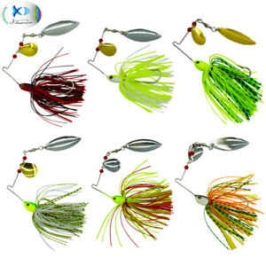5-10Pcs-Hard-Metal-Rubber-Jig-Spinner-Fishing-Lures-Lead-Metal-Spoon-Lures-Bait
