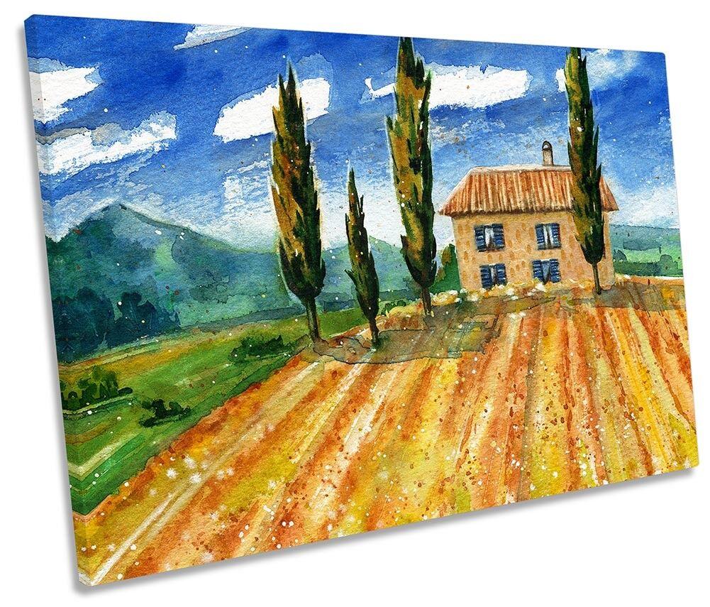 Tuscan Landscape  Framed SINGLE CANVAS Drucken Wand Kunst