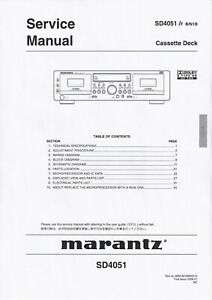USER MANUAL Operating Instruction Marantz SP-50 Dolby Surround Processor