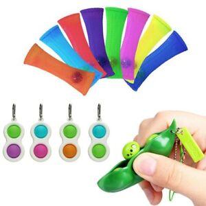Push Pop Bubble Sensory Fidget Toy with 2 Squeeze Beans Stress Reliever Toys UK