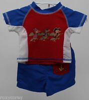 Mary Engelbreit Baby Boys Pirate Swim Shirt & Trunk Size 3-6 Months