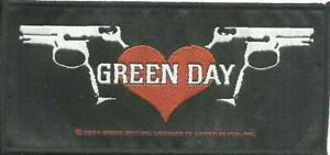 GREEN-DAY-twin-pistols-2004-WOVEN-SEW-ON-PATCH-official-merch-no-longer-made