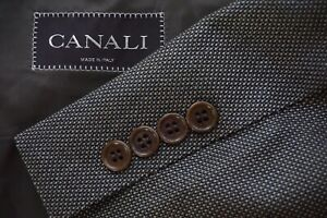 Canali-Brown-Label-Silk-Blend-Brown-Black-Hopsack-Sport-Coat-Jacket-Sz-40R
