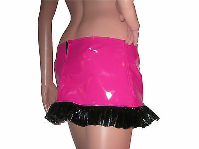 Womens Sexy Plus Size Hipster PVC Fetish Shiny Skirt Sizes 6 - 28