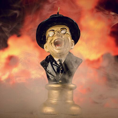 """BURNING NAZI CANDLE 7/"""" Melting Toht Candle Oddco #NEW"""